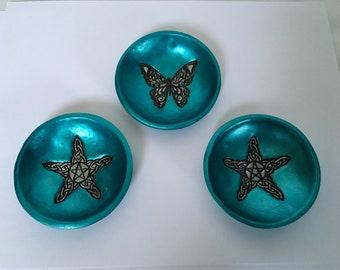 3 Handmade little trinket bowls