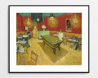 The Night Cafe by Vincent Van Gogh - Van Gogh Print - Van Gogh Painting - Pool Hall - Night Life - Vincent Van Gogh Art - Van Gogh Wall Art