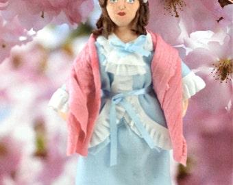 Old Hollywood Film Star Lillian Gish Doll MIniature