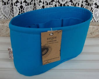 Size SMALL / 10.5 x 3.5 x 6H oval / Ready to ship / Purse ORGANIZER Insert Shaper / Turquoise / STURDY & Durable / Choice of bottom type