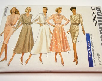 Butterick Classics Misses' Dress, Top And Skirt Pattern 5769 Size 18 - 20 - 22