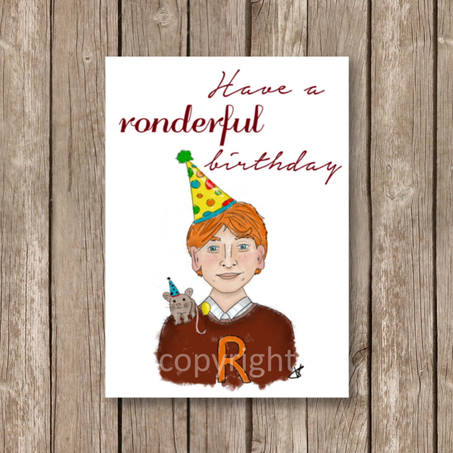 Printable Birthday Card Harry Potter Ronderful Birthday