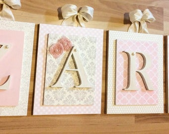 Nursery Name Letters, Name Letters, Girls Nursery Ideas, Pink Nursery Decor,  Baby