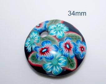 Polymer clay  pendant polymer bead
