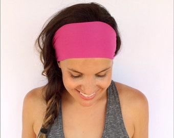 Yoga Headband - Workout Headband - Fitness Headband - Running Headband - The Perfect Pink Print - Boho Wide Headband