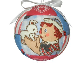 Raggedy Andy Christmas Ornament, Doll, Children's Ornament, Home Decor, Handmade Gift Under 25, Tree Decoration, Holiday Gift, Birthday Gift