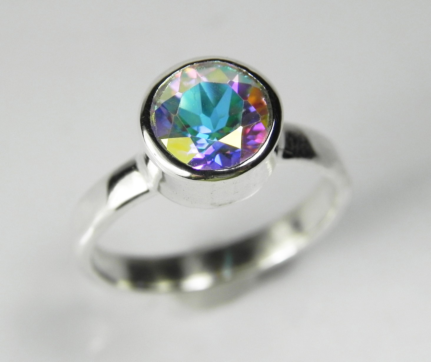 Mystic Topaz Ring Mystic Topaz Engagement Ring Mystic