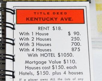 Kentucky Ave Monopoly Notebook