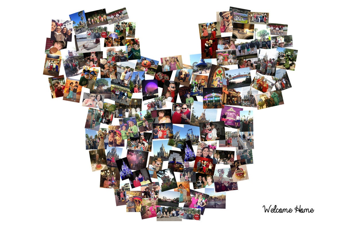 Disney collage custom mickey mouse ears custom canvas mosaic zoom jeuxipadfo Choice Image