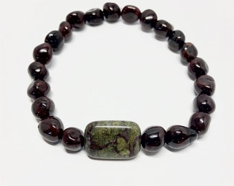 Dragon's Blood Jasper & Tumbled Nugget Garnet