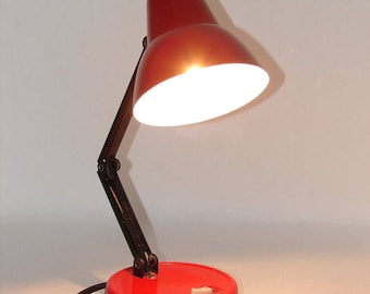 Vintage 1970s Mini Articulating Desk Lamp with Metal Shade