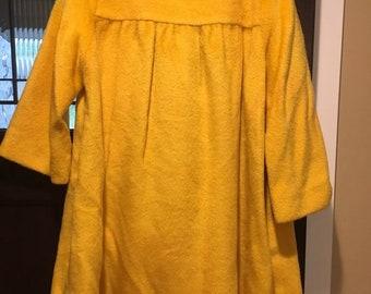 Vintage 50s LILLI ANN Yellow Coat