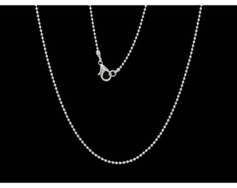 12 76cm balls 1.5 mm ball chain necklaces