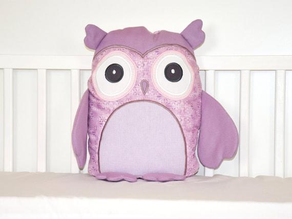 Stuffed owl, Owl doll, Plush owl, Pink and Purple, Plushie  Owl, Fabric Owl Toy, Owl Softie, Patchwork Owl, Cloth Owl Toy, Woodland Hoot Owl