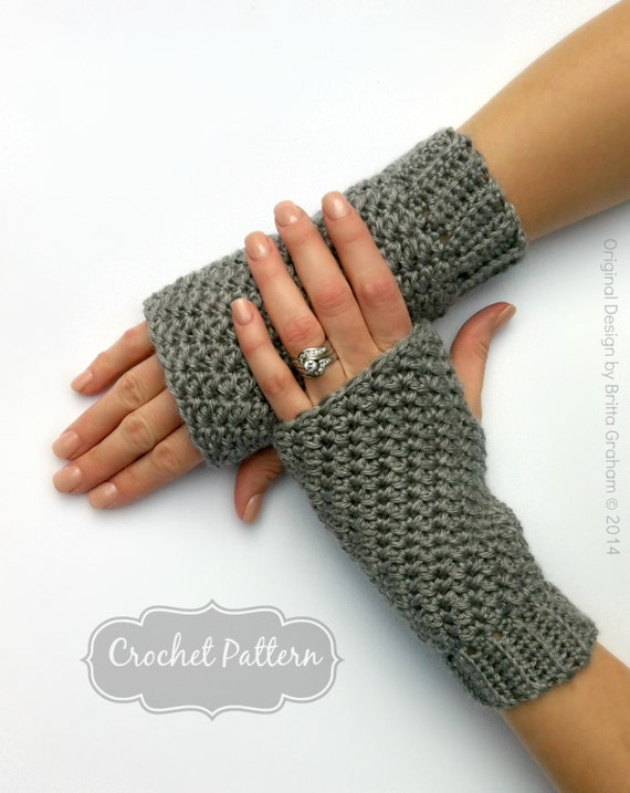 Fingerless Gloves Crochet Pattern No915 Crochet Glove Pattern Quick