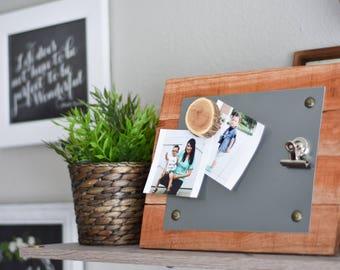 Farmhouse Rustic Decor - Entryway Organizer  - Magnetic Message Board - Size Choice - Magnetic Memo Board - Desk Accessory - Rustic Wedding
