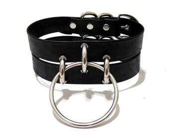 Serpens Choker. Wide Leather Collar