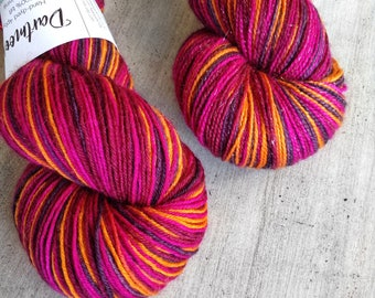 4-colour self-striping sock yarn