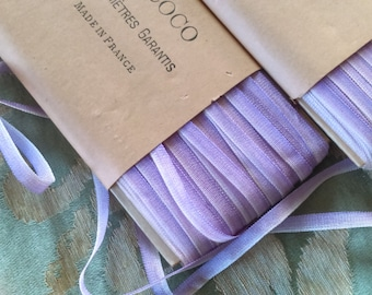 """4 Yards - Antique 1920's French Rayon Lavender Ombre Ribbon -5mm (almost 1/4"""")wide - Ribbonwork -Restoration Projects"""