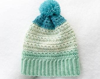 Snow Drops Slouch Hat Crochet Pattern PDF printable download