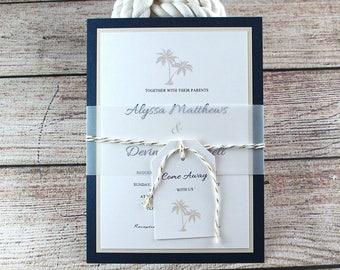 Wedding Invitations, Destination Wedding, Beach Wedding