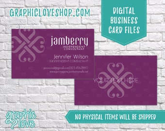 Printable, Personalized Jamberry Independent Consultant Double Sided Business Card | Calling Card, Small Biz | Digital JPG, PNG & PDF Files
