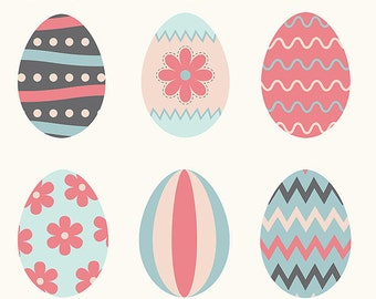 Easter Eggs #2 - Clipart ~ Clip Art ~ Digital Graphics ~ Scrapbooking ~ Crafts ~ Commercial Use
