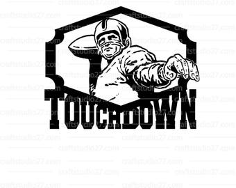 "direct download ""Touchdown"" logo digital file Football sports SVG PDF ZIP cameo cricut"
