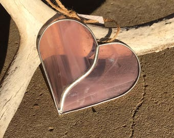 Stained glass heart ornament