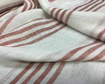 "Cowtan and Tout 120"" stripped linen"