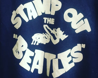 Very Rare Collectors Item The Beatles 'Stamp Out The Beatles' same as the one once wore by George Harisson, Circa 1967