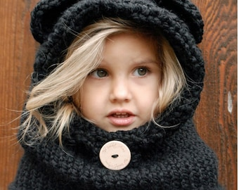 KNITTING PATTERN - Burton Bear Cowl (6/9 month - 12/18 month - Toddler - Child - Adult sizes)