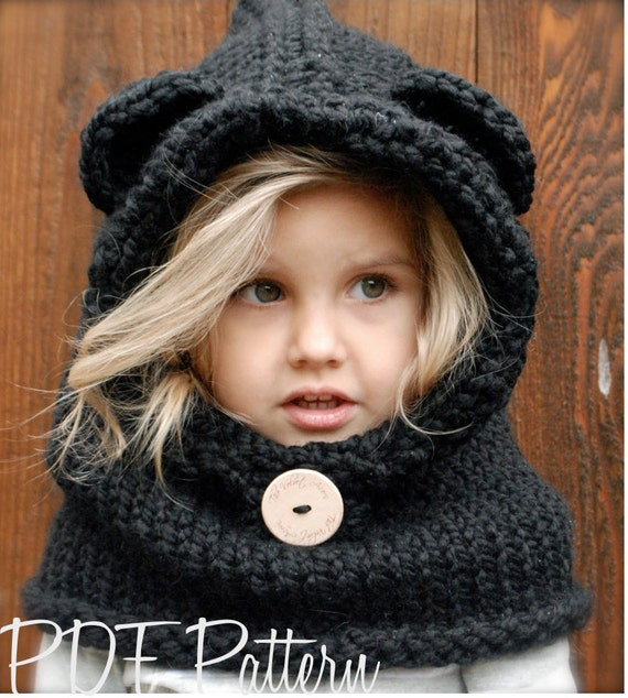 Knitting Pattern Burton Bear Cowl 69 Month 1218 Month