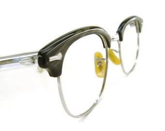 Vintage Mens G-Man Horn Rimmed  Eyeglasses or Sunglasses Frame 12Kt Gf 48-22