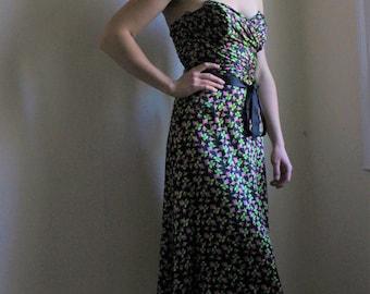 Betsey Johnson strapless floral dress
