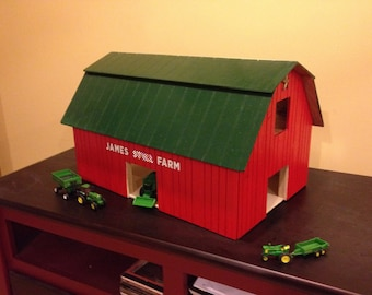 Toy Farm Barn with Customized Child's Name or Initials