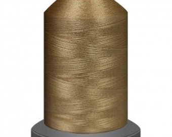 Caramel thread, quilting thread, sewing machine thread, glide thread, sewing thread, 1000m cone, brown thread, polyester thread