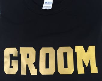1 Groom T shirt, Bachelor T shirt, Bachelorette Party, Wedding Party, Stag and Doe Party, Groom Gifts, Bachlorette Party