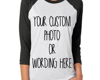 Custom Shirt, Personalized Shirt, Custom T-shirt, Custom Printing, Custom Baseball Shirt, Custom Gift