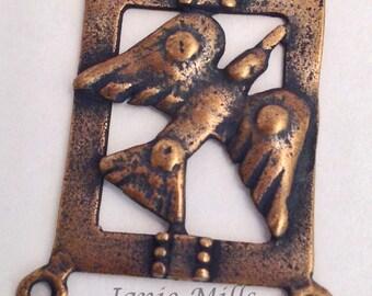 Medal Bronze Holy Spirit Dove Rosary Center
