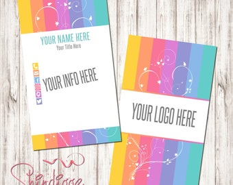 Custom Business Card, Business Card Design, Independent Consultant, stripes, Inspired by LLR
