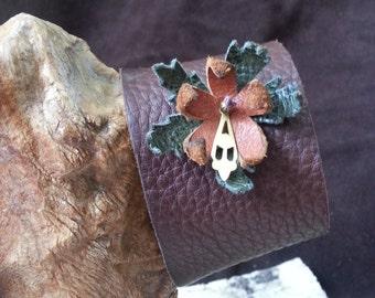 Brown Leather Cuff