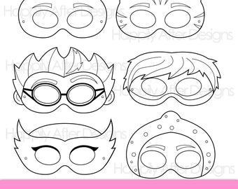 Super Kids Printable Coloring Masks, Hero Mask, Villain Mask, Printable  Masks, Character Masks, Owl Mask, Cat Mask, Lizard Mask, Ninja Mask