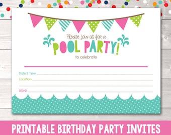 Printable invitation Etsy