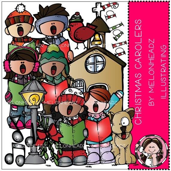 christmas carolers clip art rh etsy com christmas carolers clipart free christmas caroling clipart