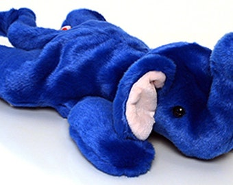 "Vintage Beanie Buddy ""PEANUT"" the Elephant - 1998 TY Plush Stuffed"