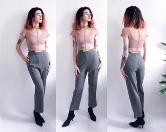80's Emanuel Ungaro Textured Crepe Pants