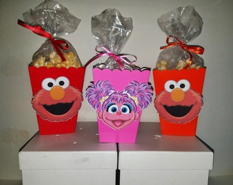 Elmo and Abby Cadabby Snack Boxes - Set of 10