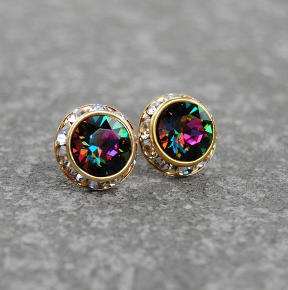 crystal earrings clear listing rainbow swarovski il diamond jewel