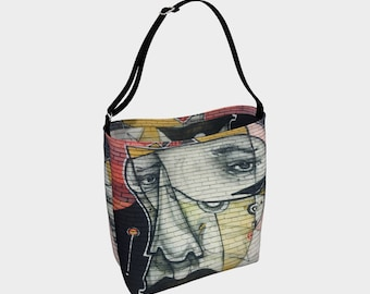 The Face Street Art Tote Bag